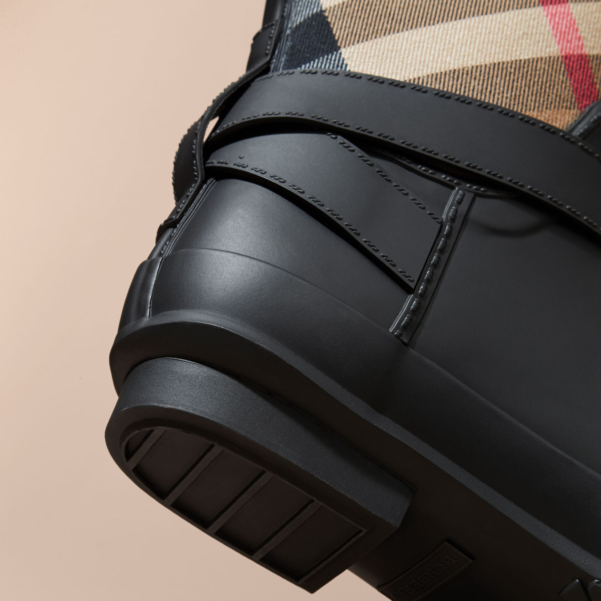 Belt Detail Check and Rubber Rain Boots - Women | Burberry - gallery image 5