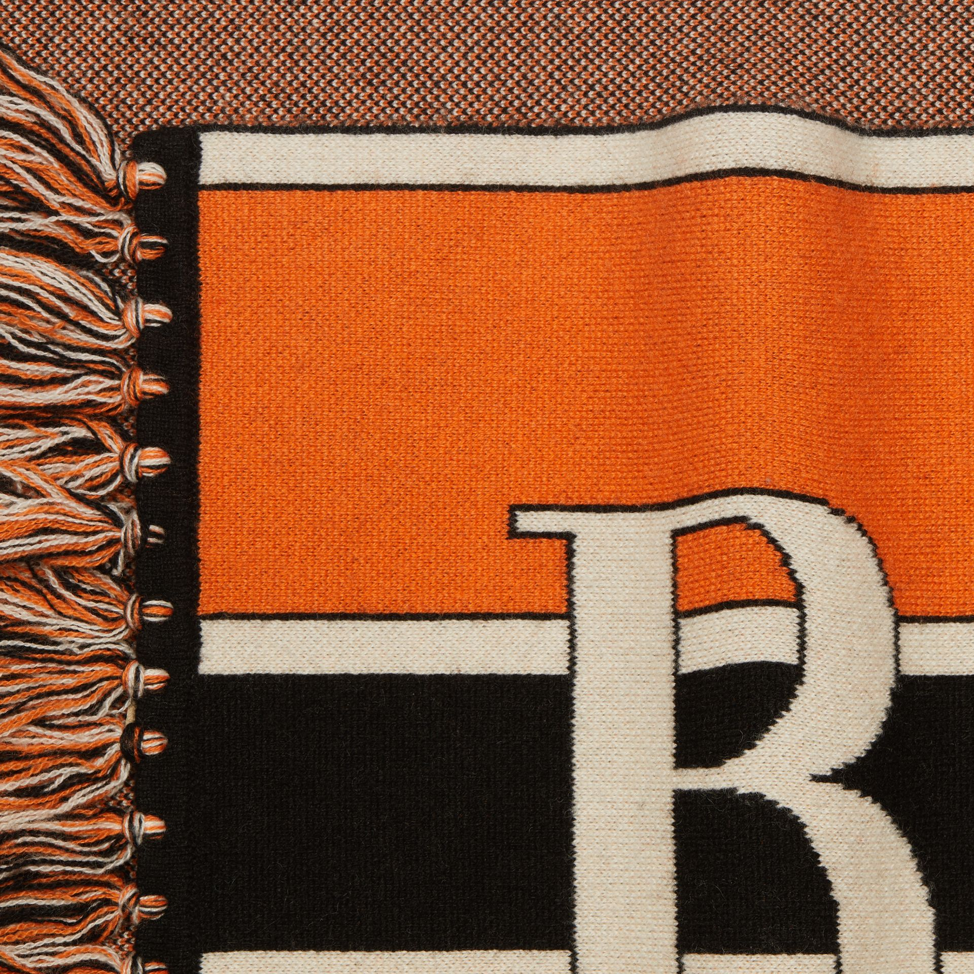Logo Cashmere Scarf in Multicolour | Burberry - gallery image 1