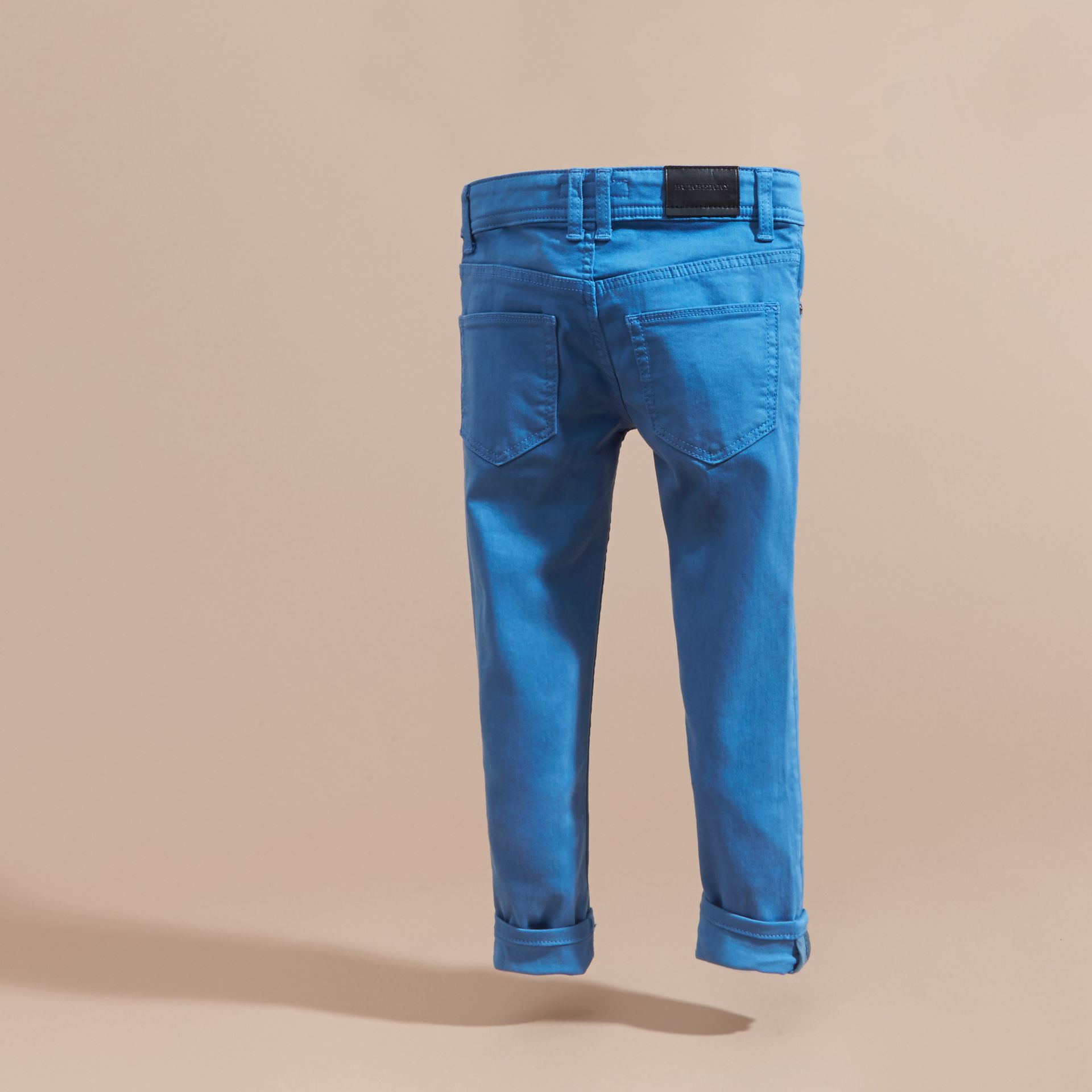 Skinny Fit Jeans in Hydrangea Blue - gallery image 4