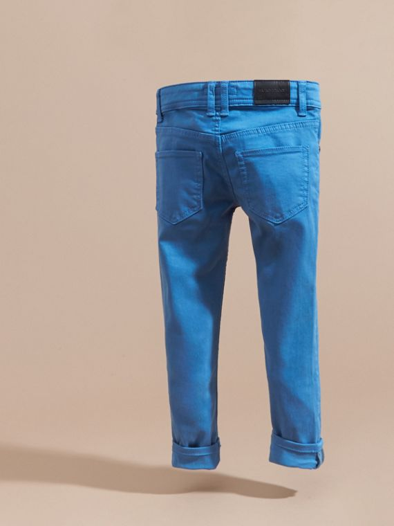 Skinny Fit Jeans in Hydrangea Blue - cell image 3