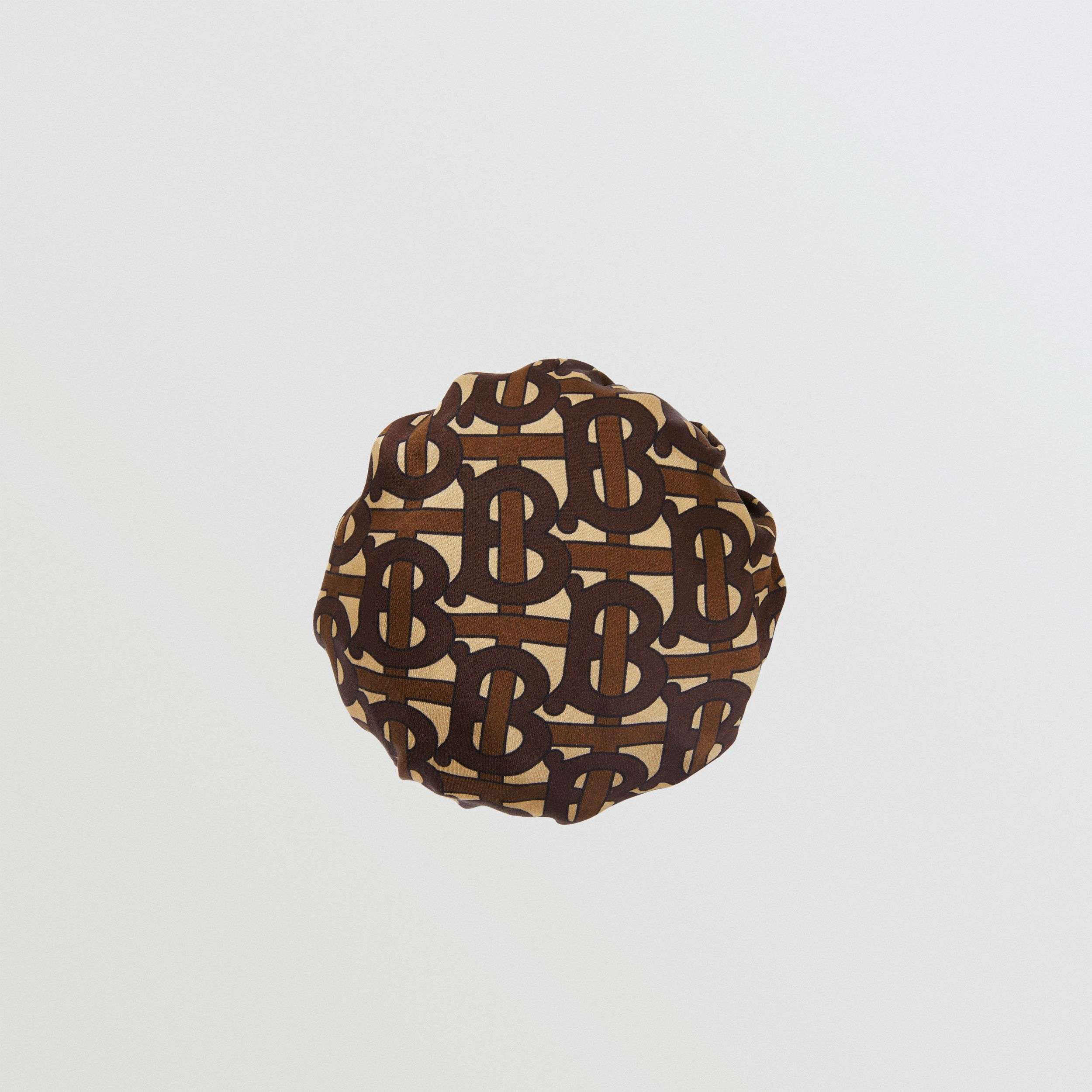Monogram Print Silk Chignon Cover in Brown | Burberry - 1