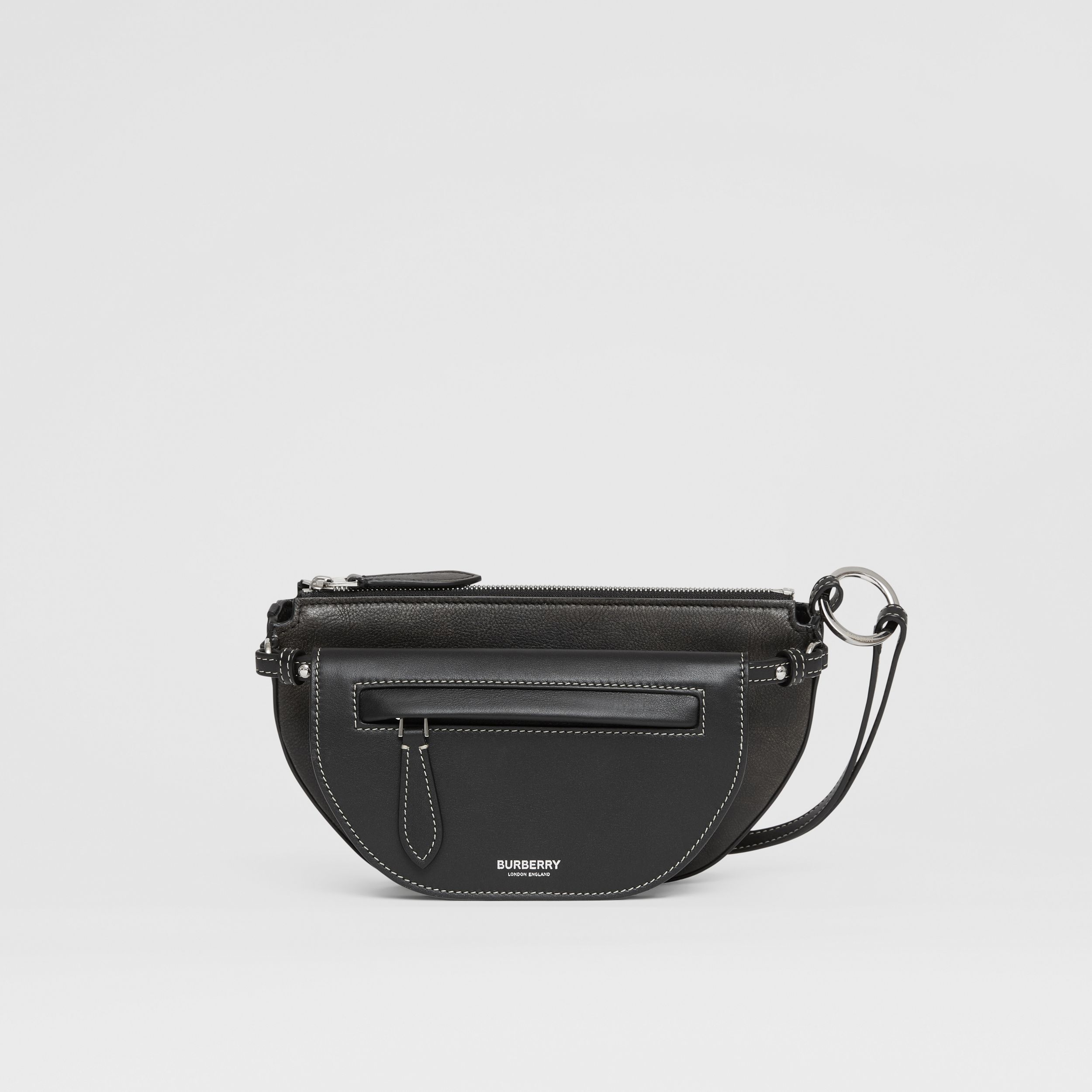 Mini Leather Double Olympia Bag in Black - Women | Burberry Canada - 1