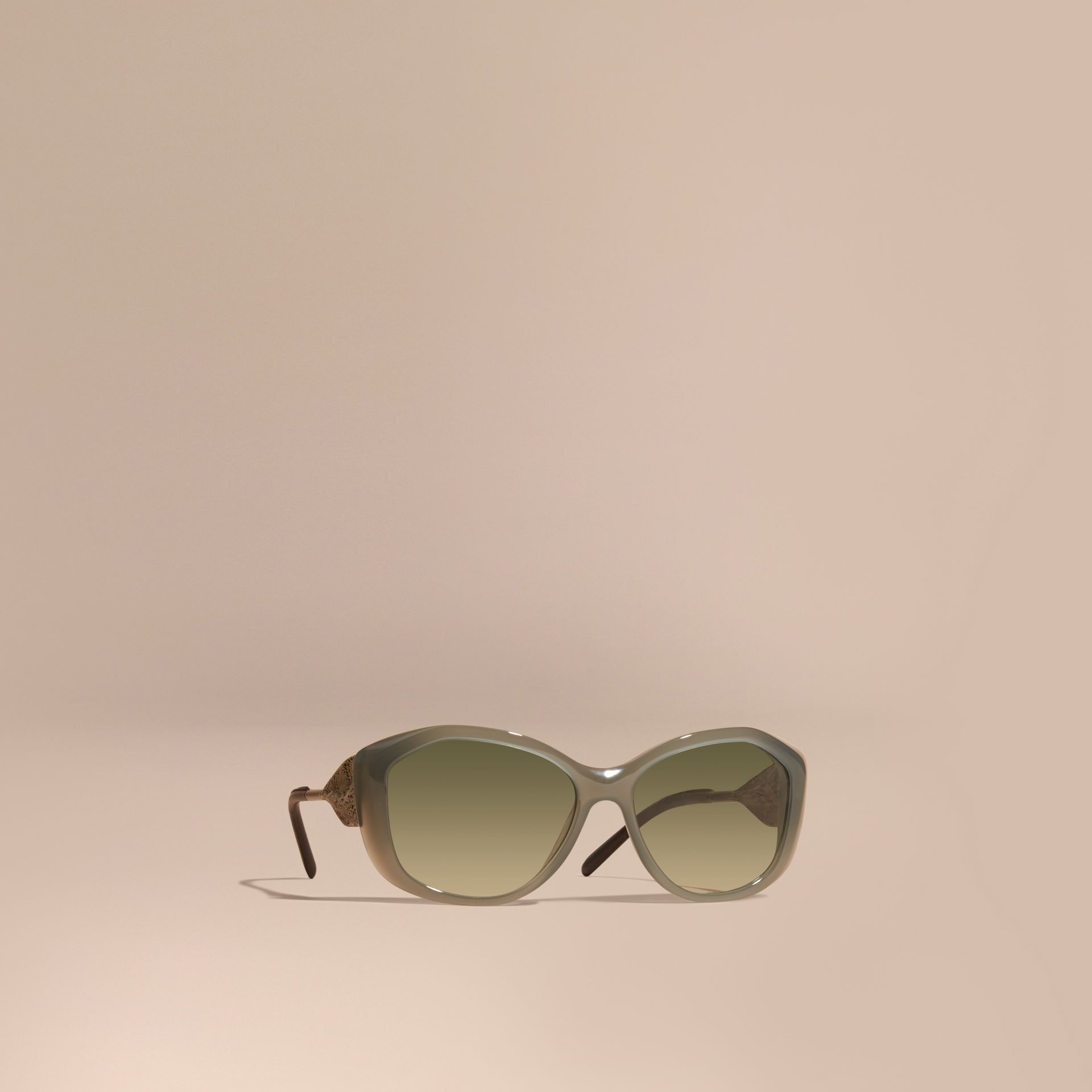 Opal green Gabardine Lace Collection Square Frame Sunglasses Opal Green - gallery image 1