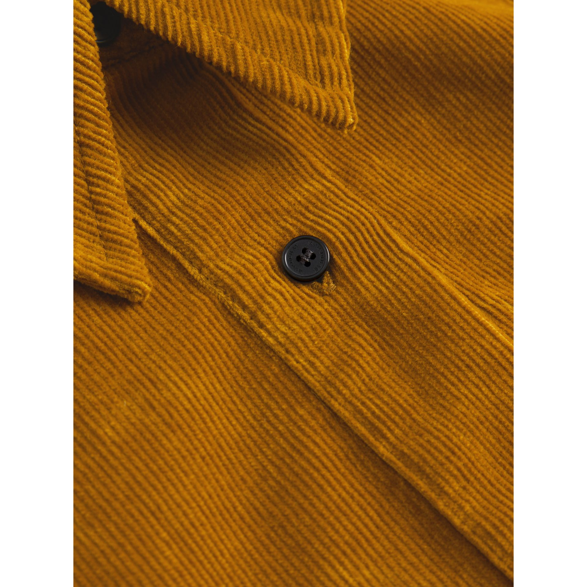 Corduroy Shirt Dress in Ochre | Burberry United States - gallery image 1
