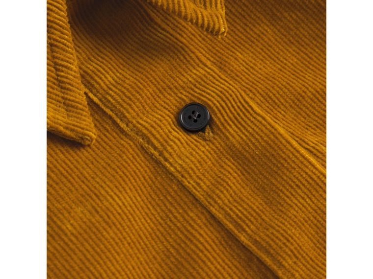 Corduroy Shirt Dress in Ochre - Girl | Burberry - cell image 1