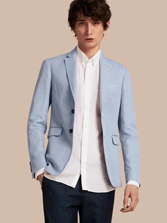 Slim Fit Cotton Linen Jacket