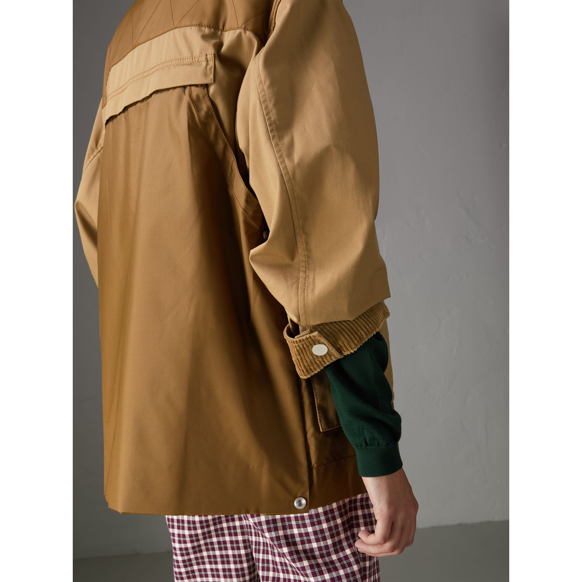 Quilted Panel Cotton Blend Jacket in Camel - Women | Burberry - gallery image 1