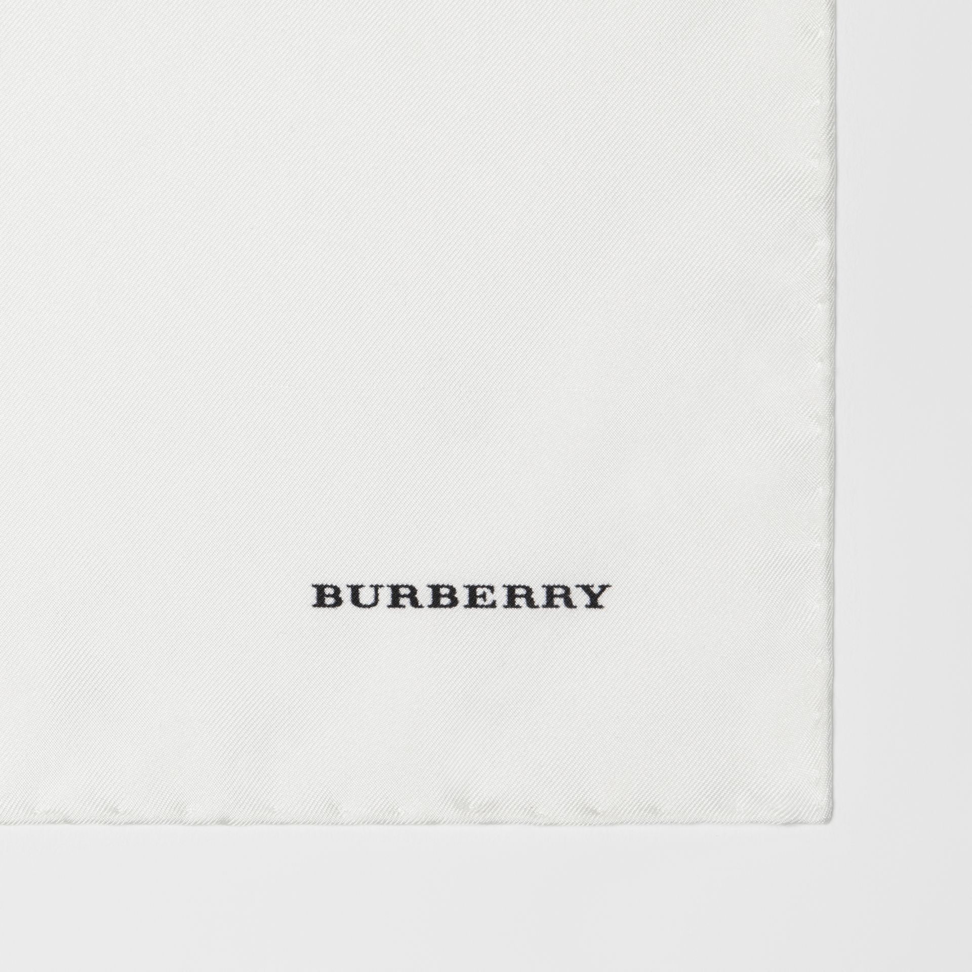 Silk Pocket Square in White - Men | Burberry - gallery image 1