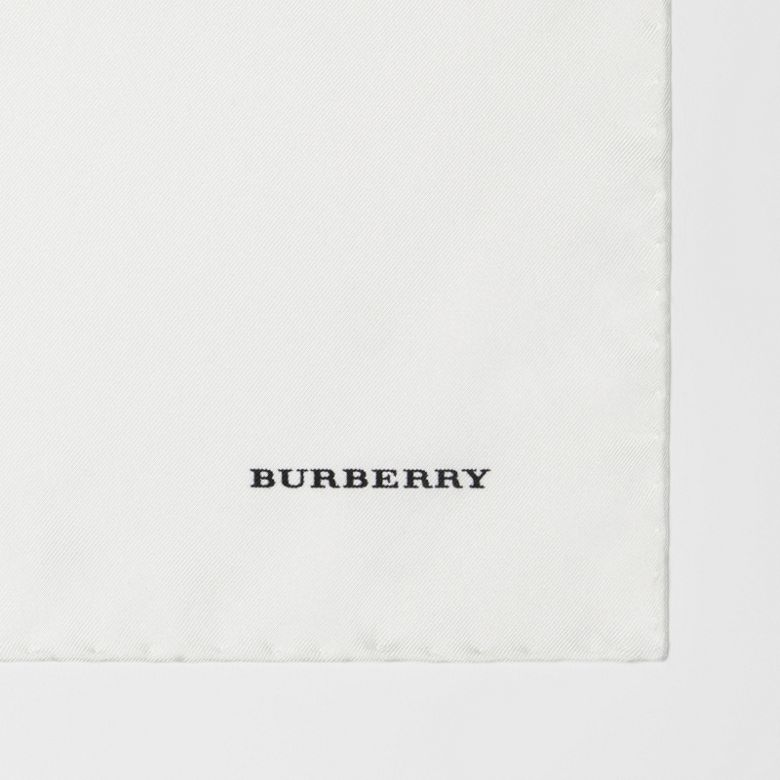 Burberry - Pañuelo cuadrado de bolsillo en seda - 2