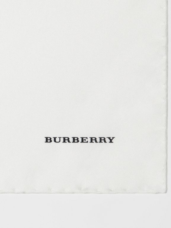 Silk Pocket Square in White - Men | Burberry - cell image 1