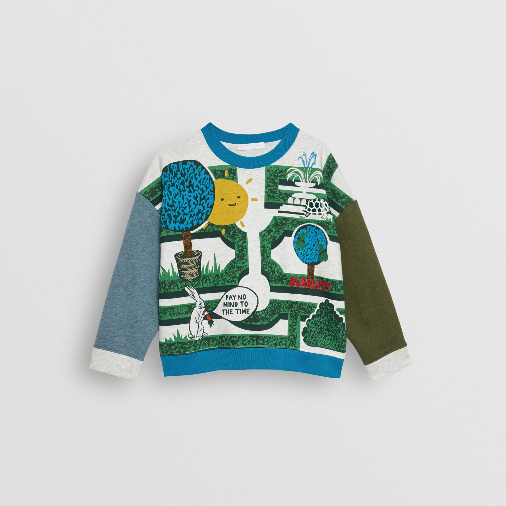 Hedge Maze Print Cotton Sweatshirt in Multicolour | Burberry Canada - gallery image 0