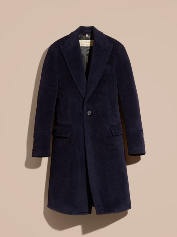 Navy black Alpaca Wool Overcoat - cell image 3