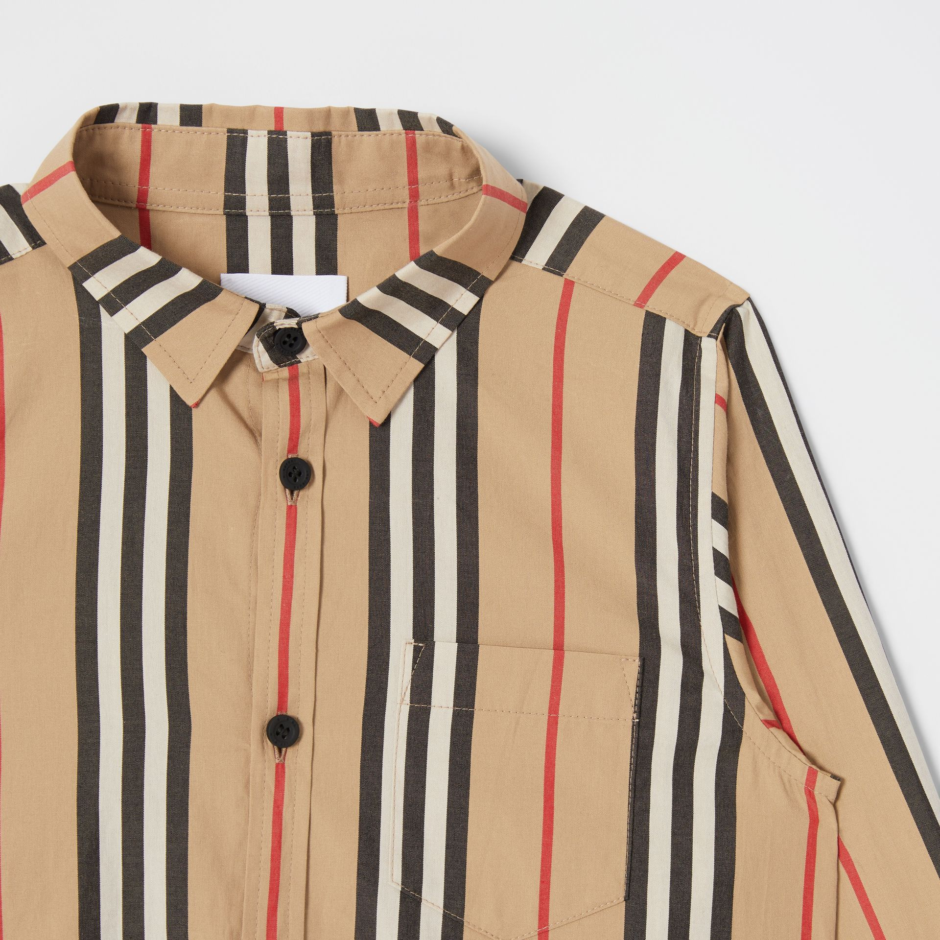 Icon Stripe Cotton Poplin Shirt in Archive Beige | Burberry United Kingdom - gallery image 4