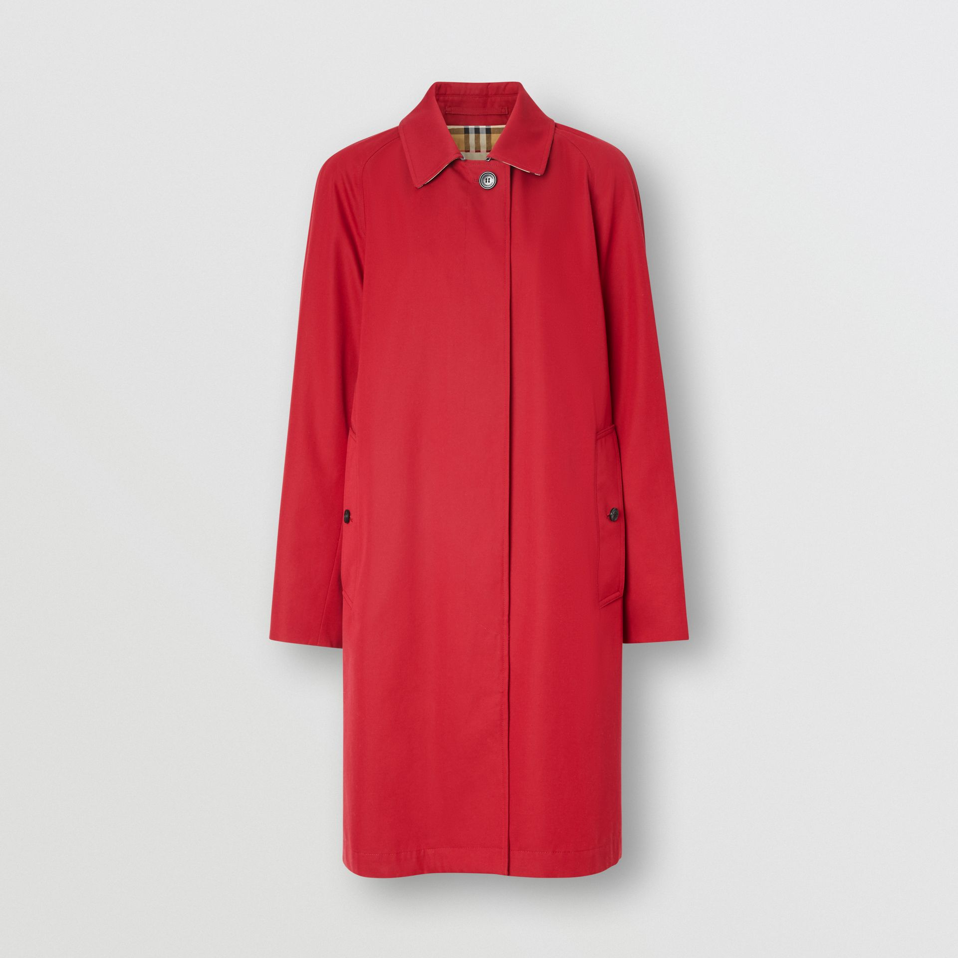 The Camden Car Coat in Parade Red - Women | Burberry - gallery image 3