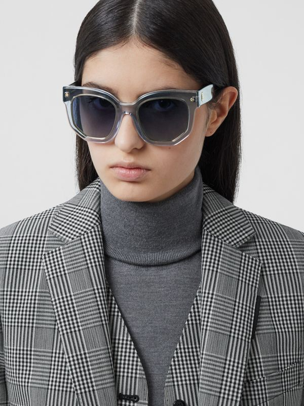 Geometric Frame Sunglasses in Grey - Women | Burberry - cell image 2