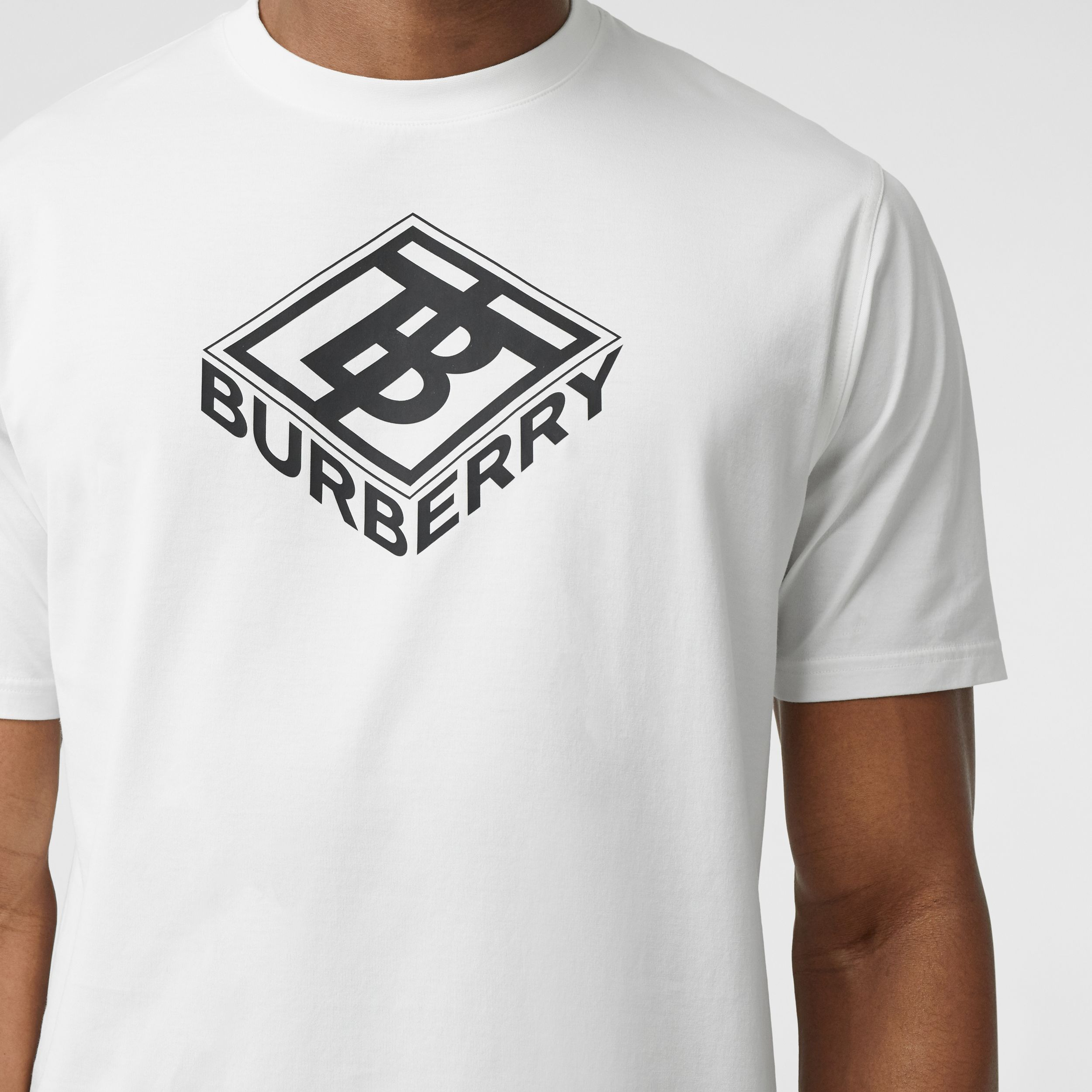 Logo Graphic Cotton T-shirt in White - Men | Burberry - 2