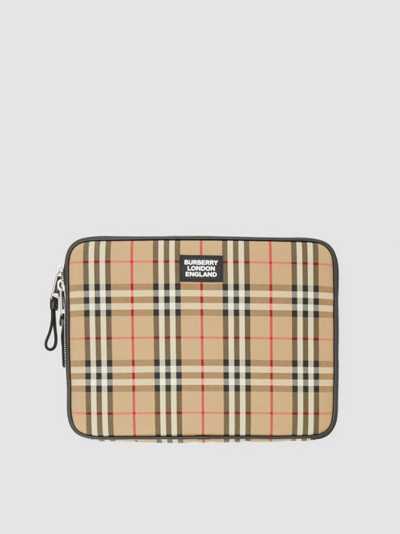 Vintage Check Digital Case in Archive Beige
