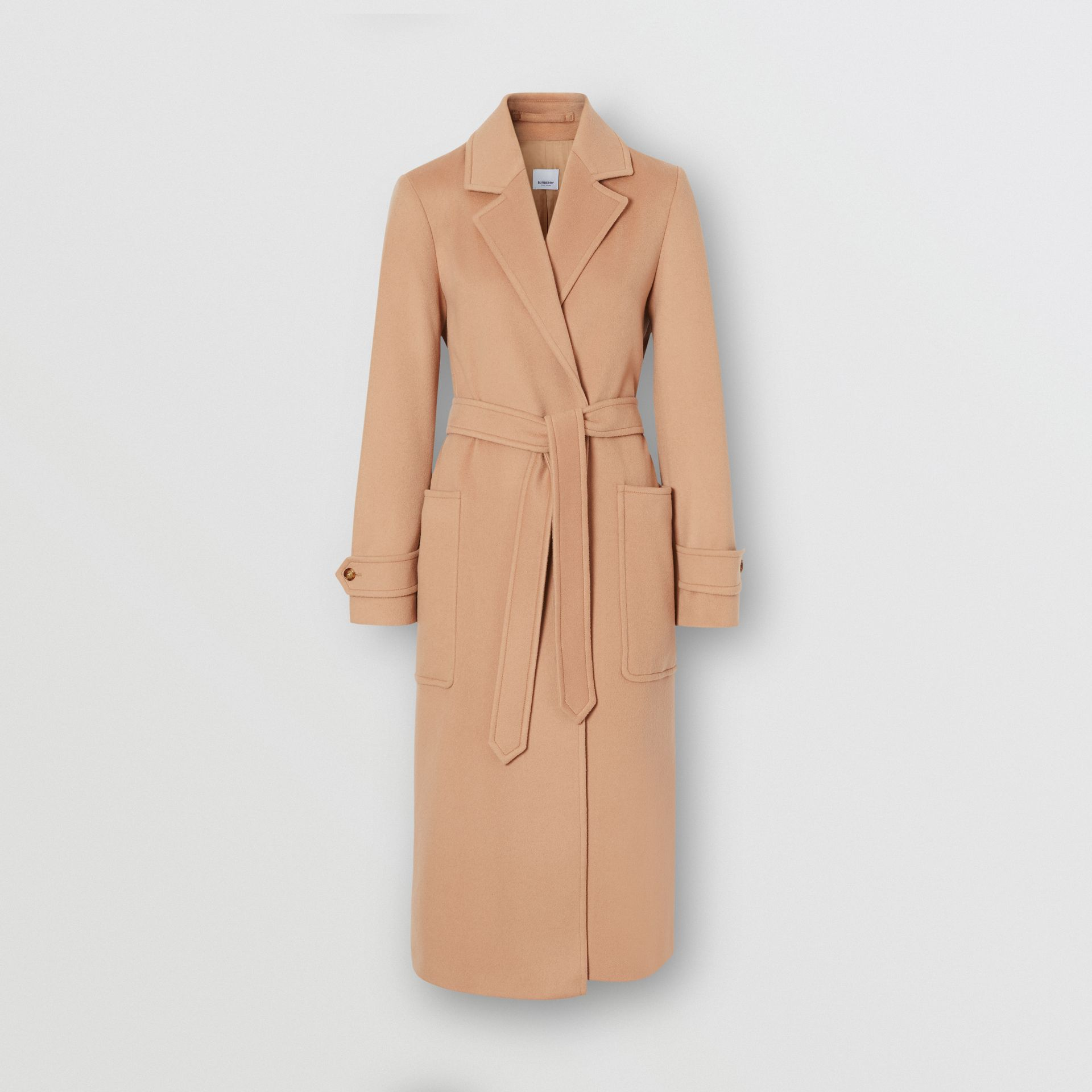 Cashmere Wrap Coat in Modern Beige - Women | Burberry - gallery image 3