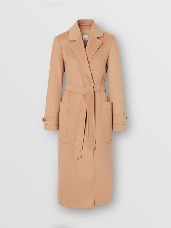 Cashmere Wrap Coat in Modern Beige - Women | Burberry - cell image 3