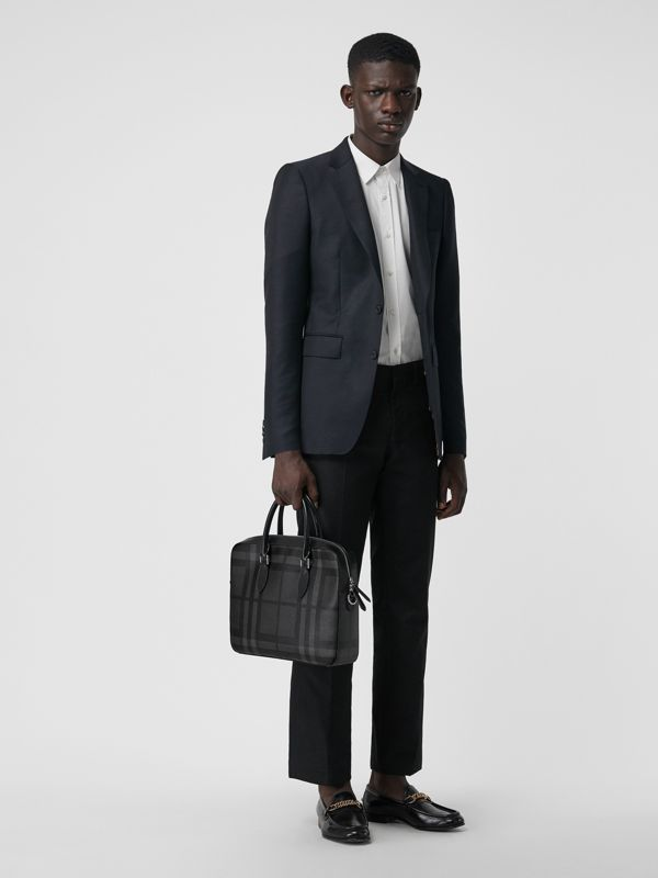 The Slim Barrow in London Check in Charcoal/black - Men | Burberry United States - cell image 2
