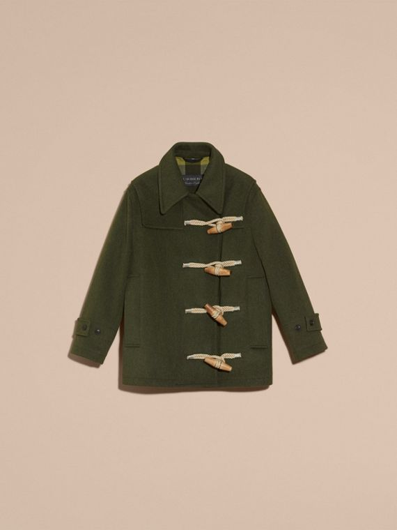 Moss green Military Wool Duffle Coat - cell image 3