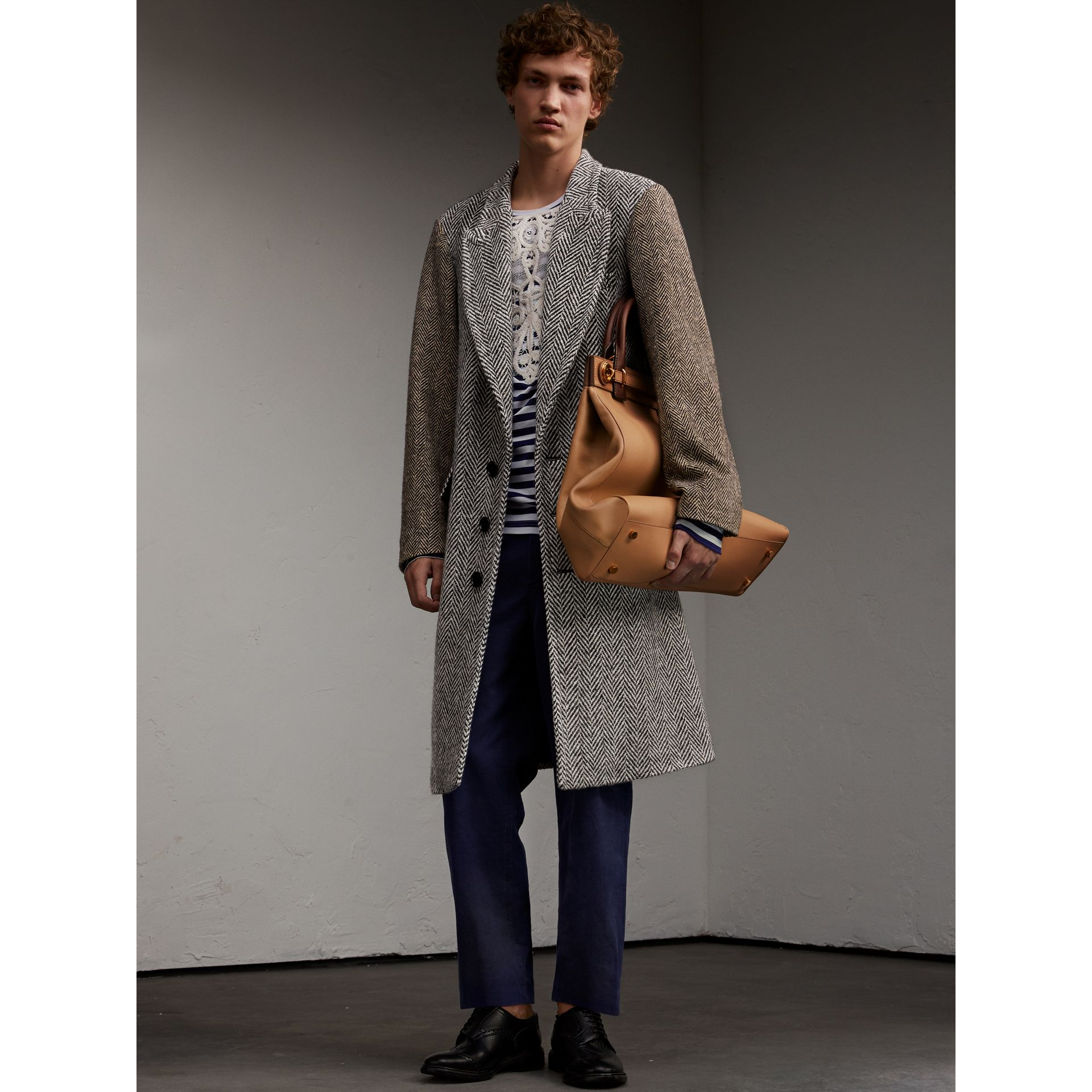 Donegal Herringbone Wool Tweed Chesterfield - Men | Burberry - gallery image 6