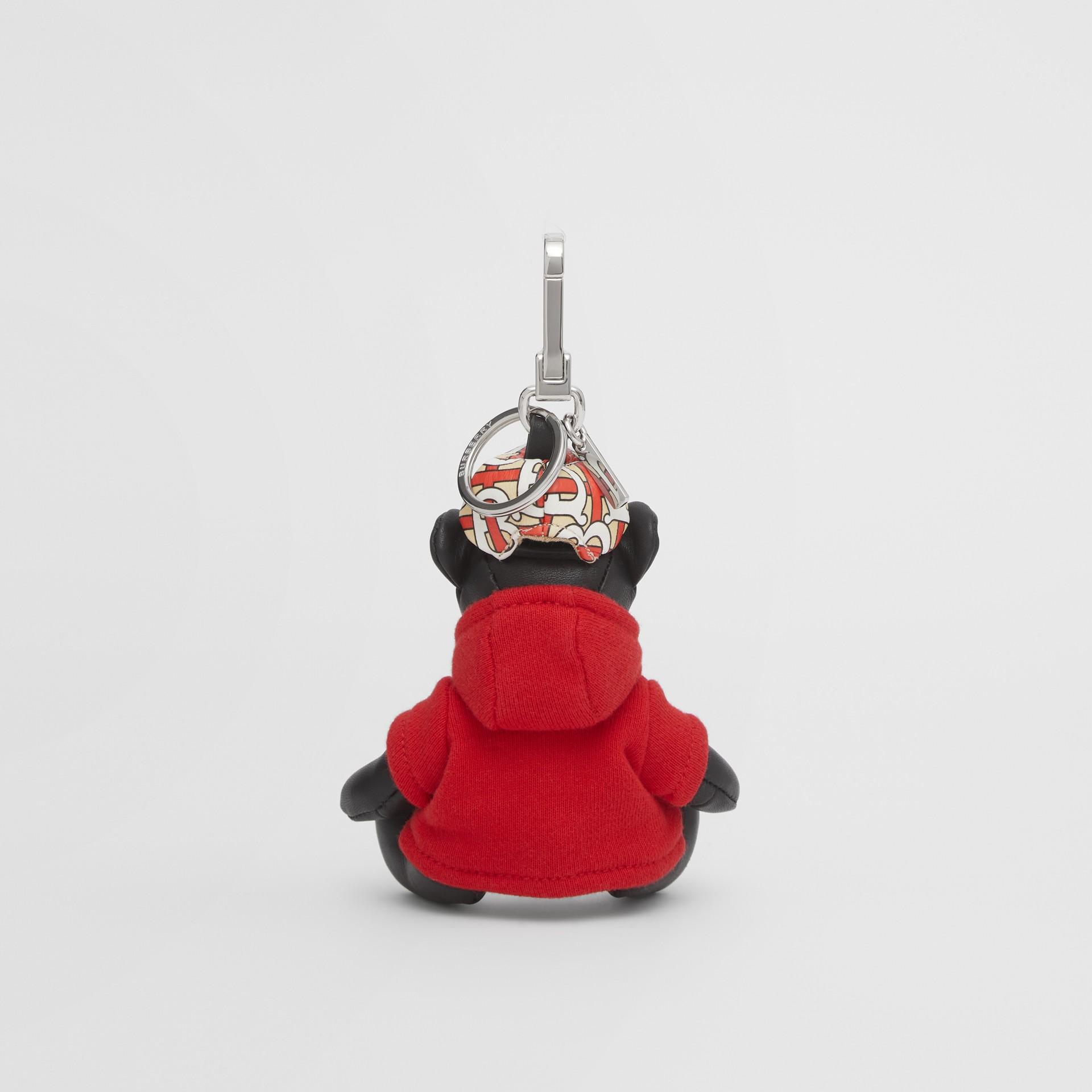 Брелок: медвежонок Томас в худи с монограммой Burberry (Черный / Красный) - Для женщин | Burberry - изображение 3