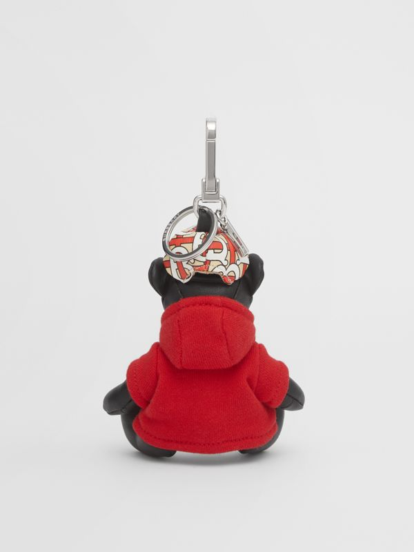 Thomas Bear Charm in Monogram Motif Hoodie in Black/red - Women | Burberry - cell image 3