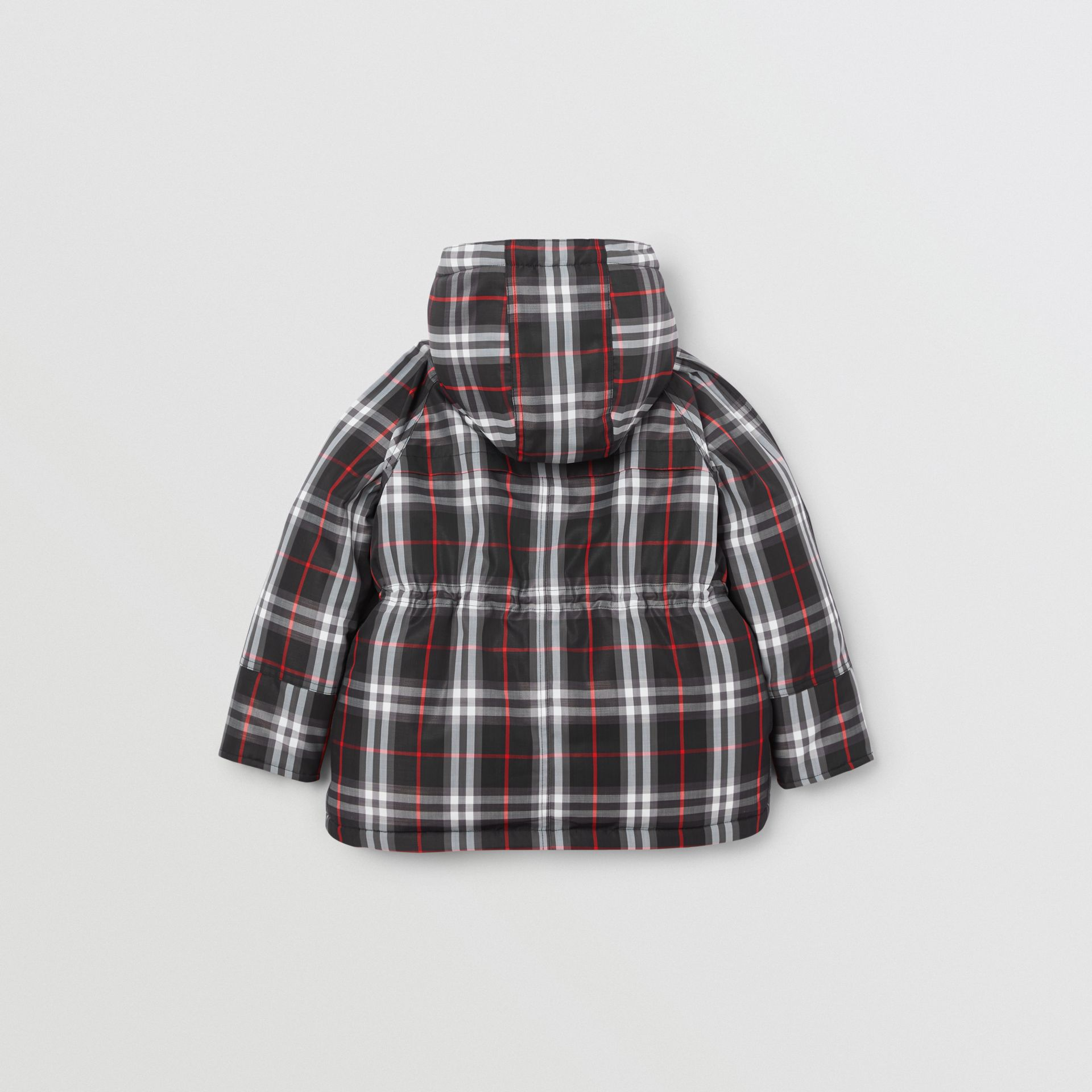 Vintage Check Down-filled Hooded Puffer Jacket in Black | Burberry - gallery image 4