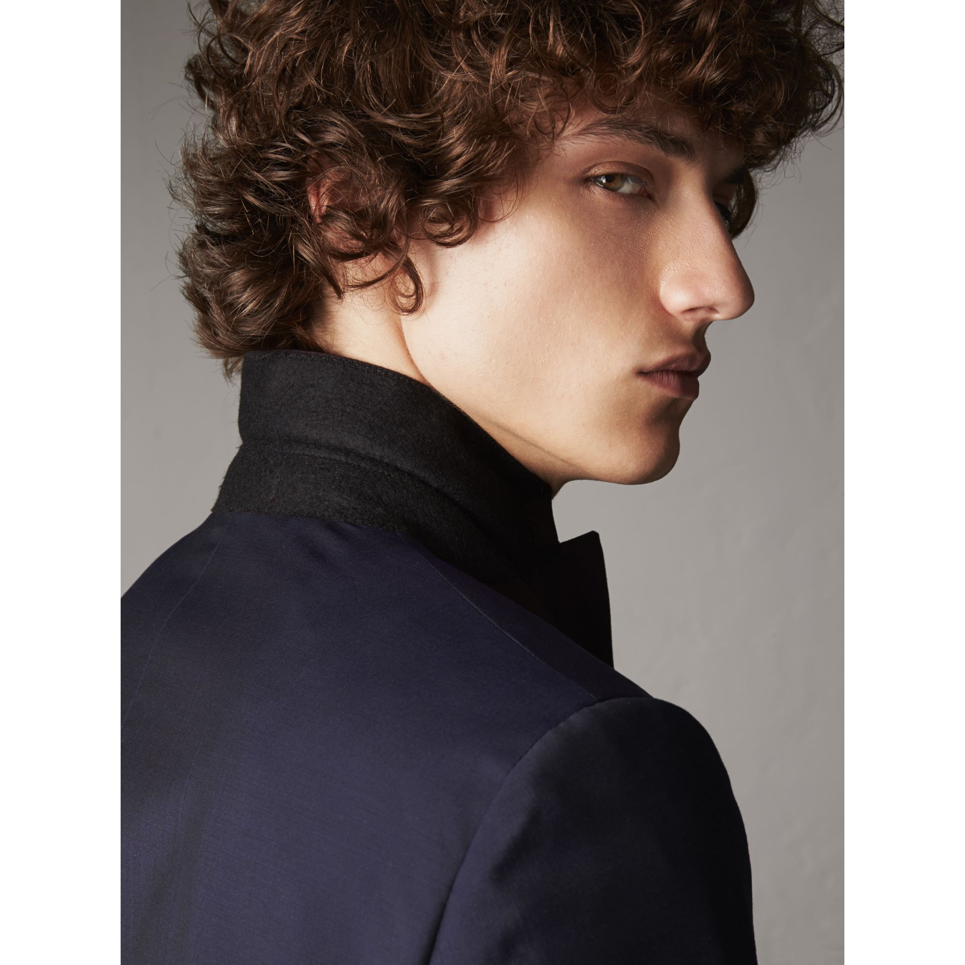 Soho Fit Wool Mohair Suit in Dark Navy - Men | Burberry - gallery image 7