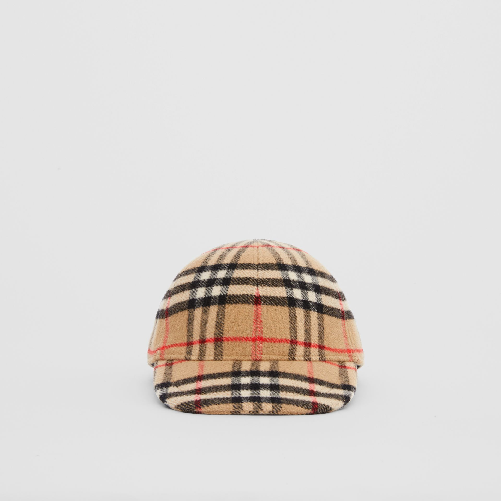 Vintage Check Wool Baseball Cap in Archive Beige - Children | Burberry - gallery image 0
