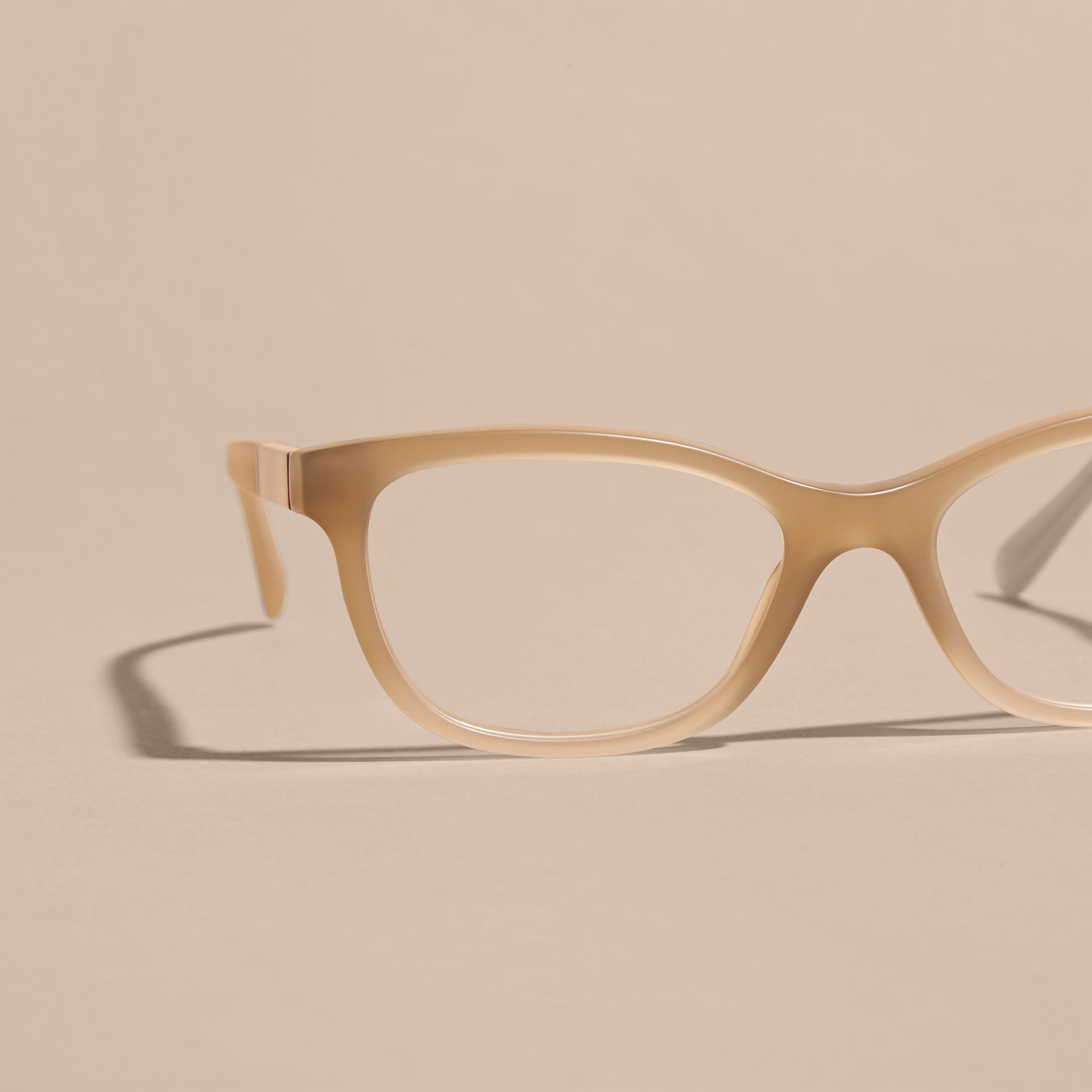 Check Detail Oval Optical Frames Chino Grey - gallery image 3