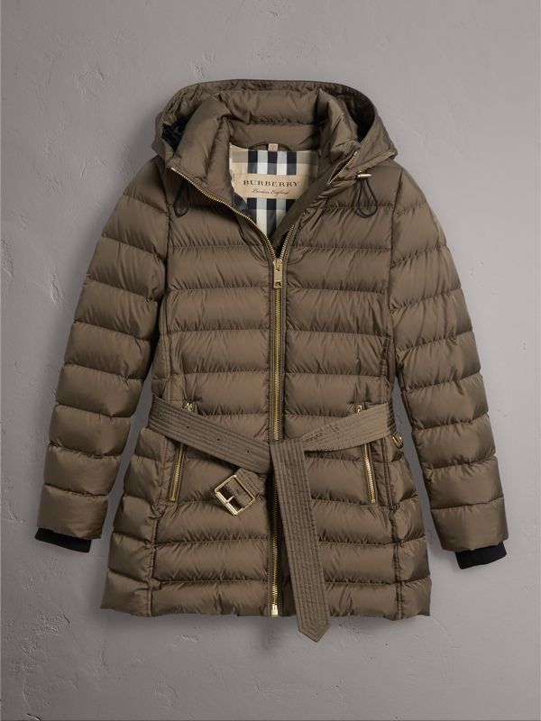 Hooded Down-filled Puffer Jacket in Mink Grey - Women | Burberry Hong Kong - cell image 3