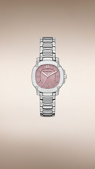 The Britain BBY1805. Reloj con indicadores de diamante de 34 mm