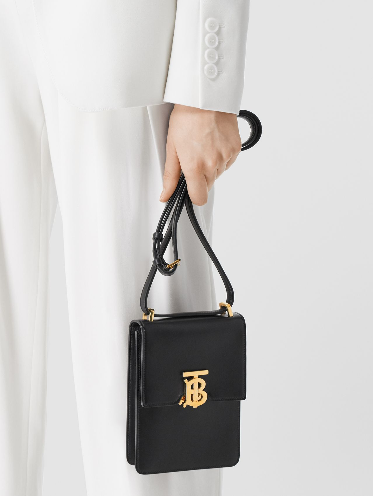Leather Robin Bag in Black