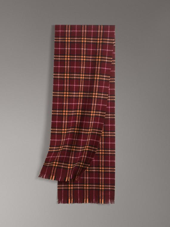 格紋喀什米爾圍巾 (暗洋紅)