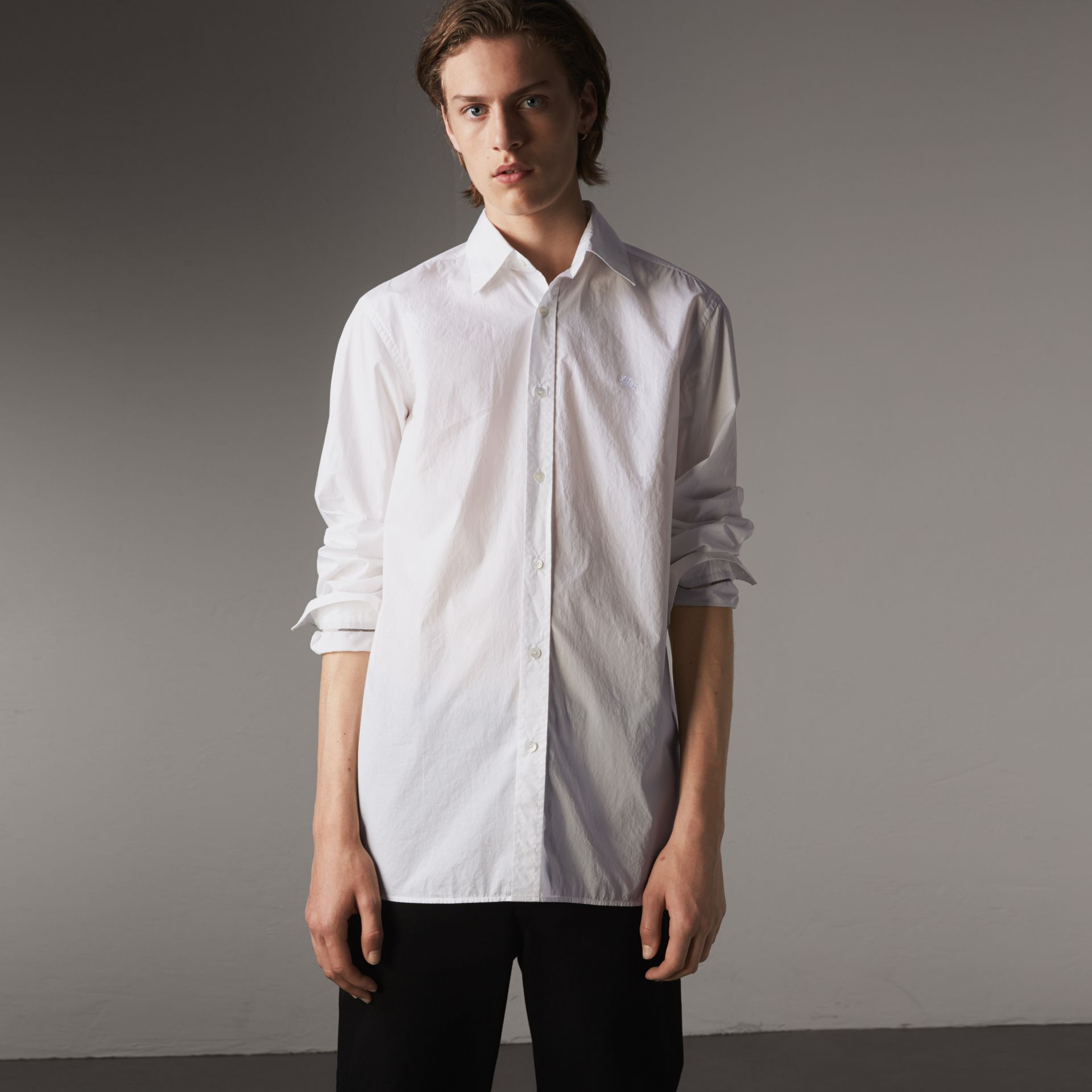 Japanese Cotton Poplin Shirt in White - Men | Burberry Singapore - gallery image 0