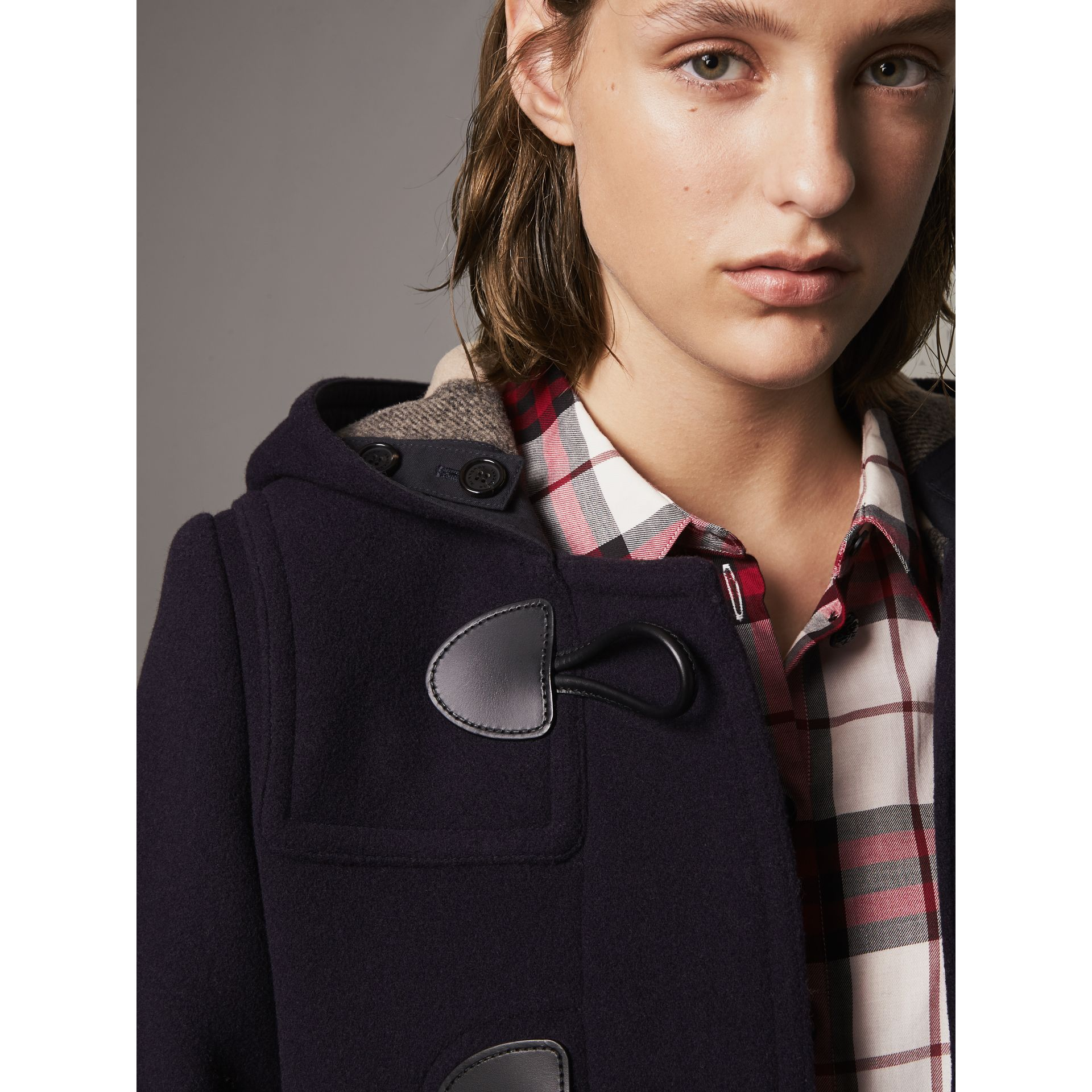 The Mersey Duffle Coat in Navy - Women | Burberry - gallery image 1