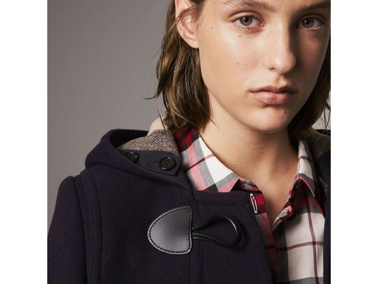 The Mersey Duffle Coat in Navy - Women | Burberry - cell image 1