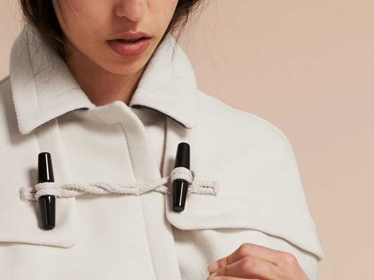 Natural white Wool Cashmere Duffle Cape Coat Natural White - cell image 4