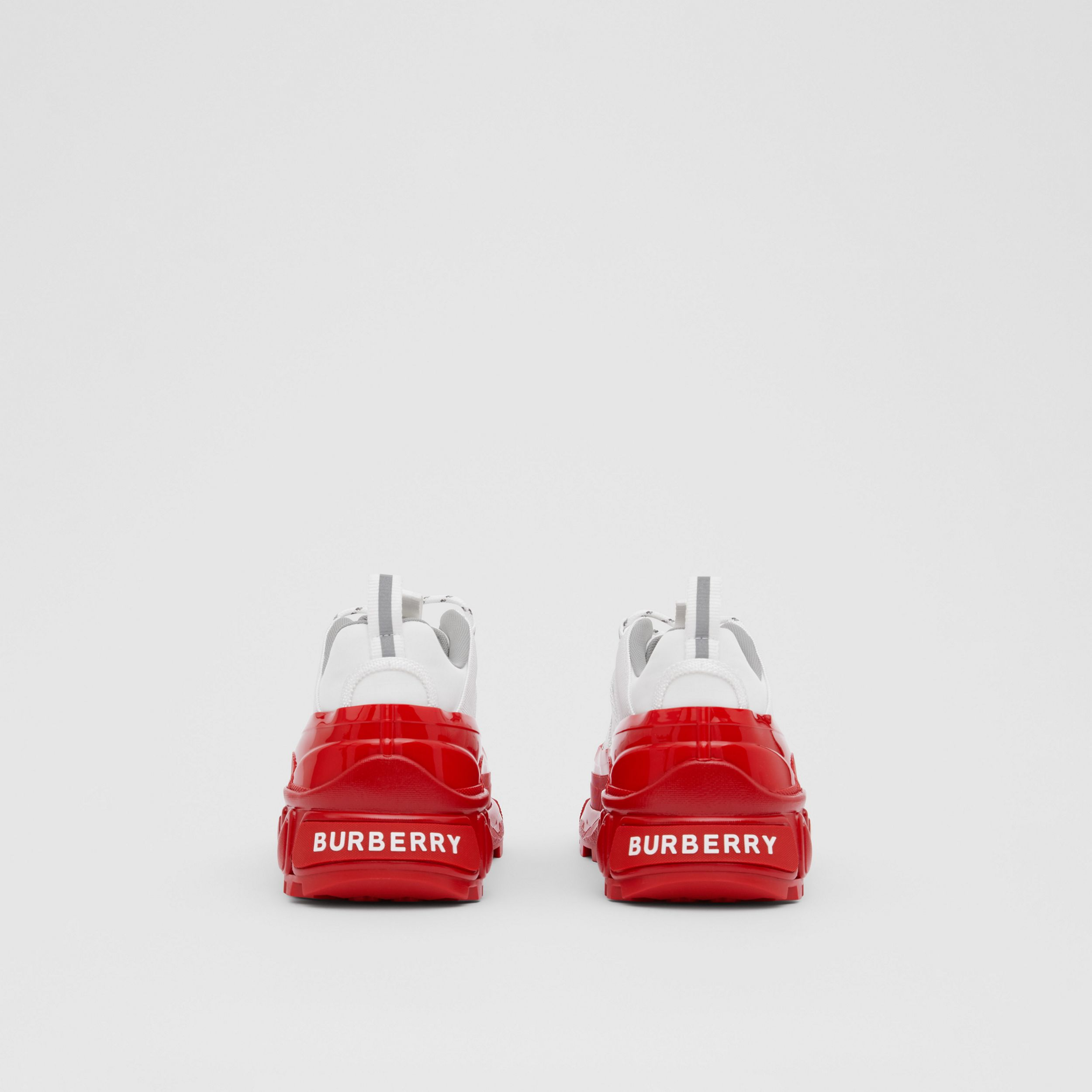 Nylon and Suede Arthur Sneakers in White | Burberry United Kingdom - 4