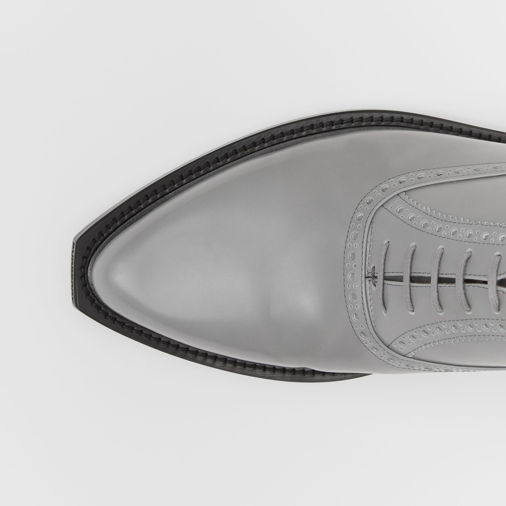 Leather Slingback Oxford Brogues in Cloud Grey | Burberry Canada - gallery image 1
