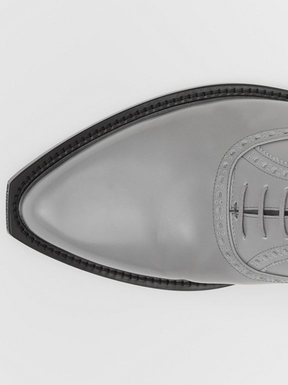 Leather Slingback Oxford Brogues in Cloud Grey | Burberry Canada - cell image 1