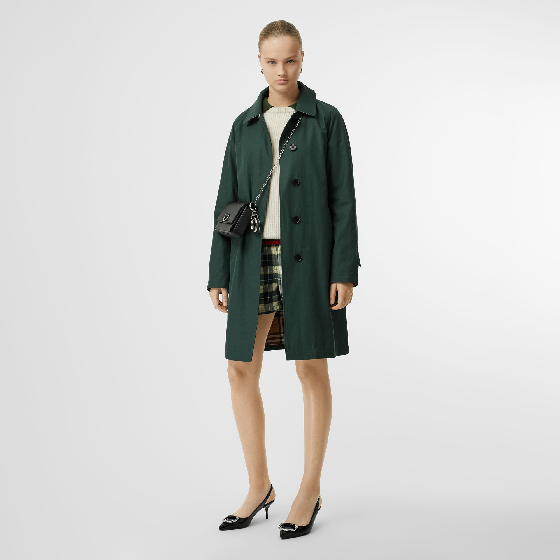 The Camden Car Coat in Dark Emerald - Women | Burberry United Kingdom - gallery image 0