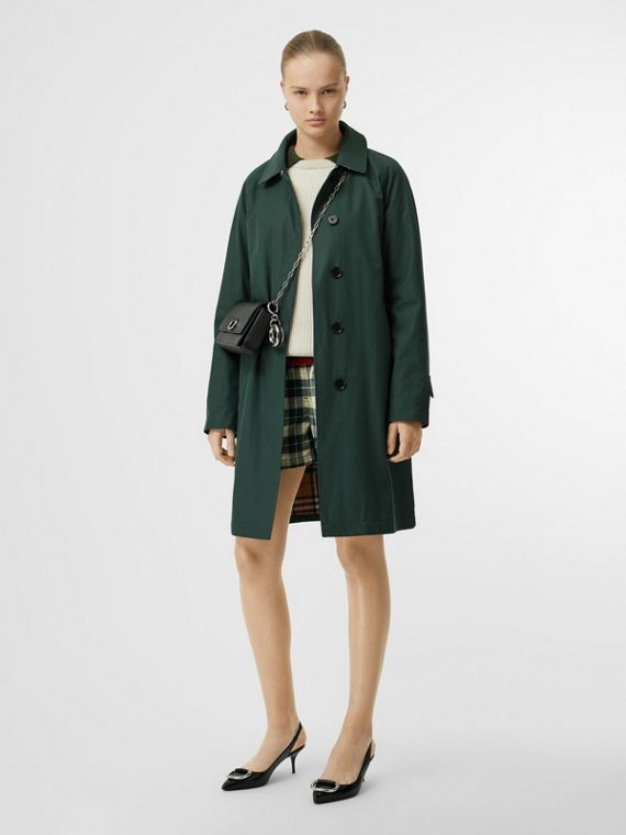 The Camden Car Coat in Dark Emerald