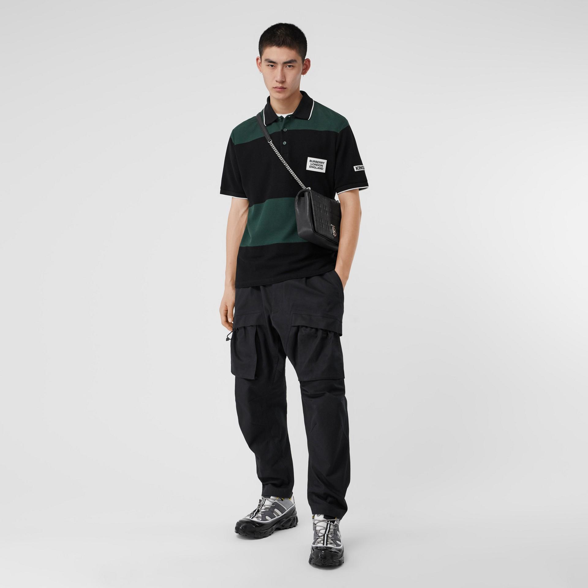 Pantalones tipo cargo en algodón (Negro) - Hombre | Burberry - imagen de la galería 0