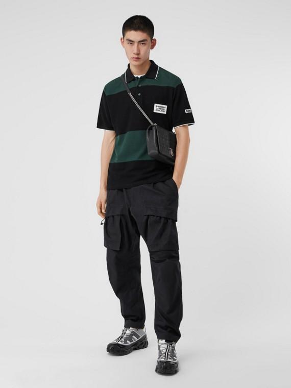 Pantalon cargo en coton (Noir)