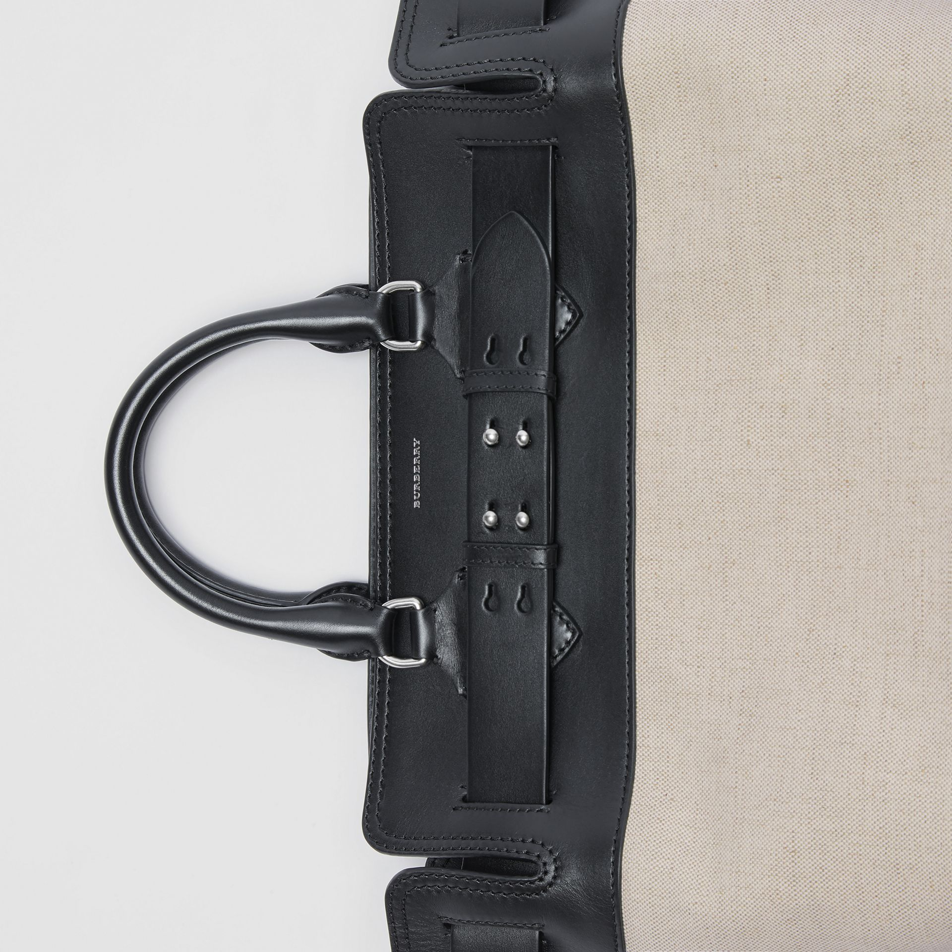 The Medium Canvas and Leather Belt Bag in Black/stone - Women | Burberry - gallery image 6
