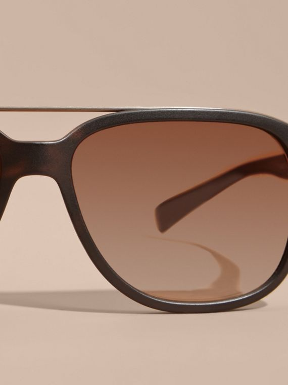 Square Frame Sunglasses in Tortoise Shell - Men | Burberry - cell image 2