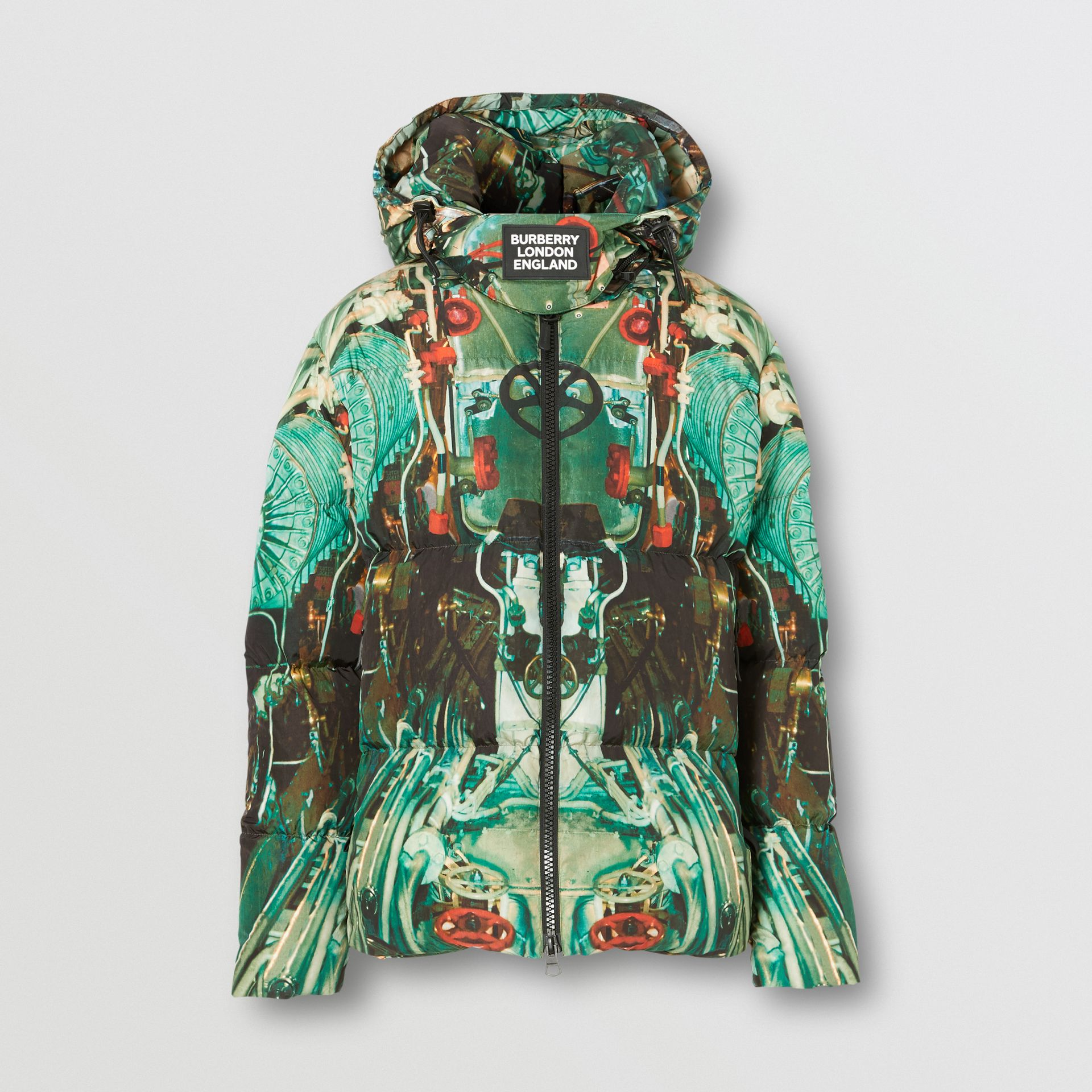 Submarine Print Puffer Jacket in Celadon Green - Men | Burberry United Kingdom - gallery image 3